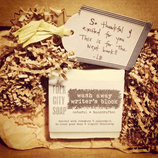 LB soap writers block gift