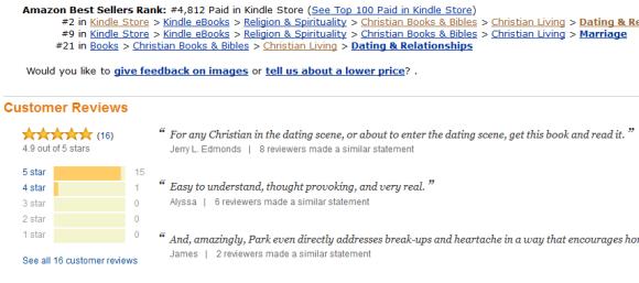 Kindle Dating 2 and 9 rating