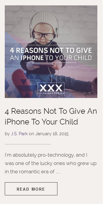 4 Reasons iPhone child xxxchurch