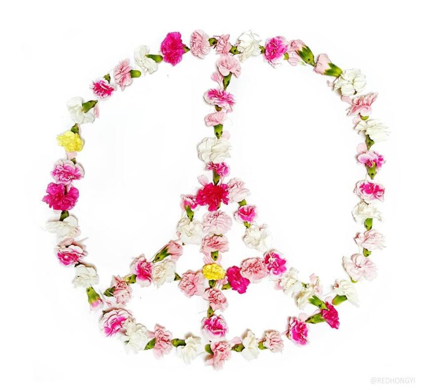 peace Paris Red Hong Yi